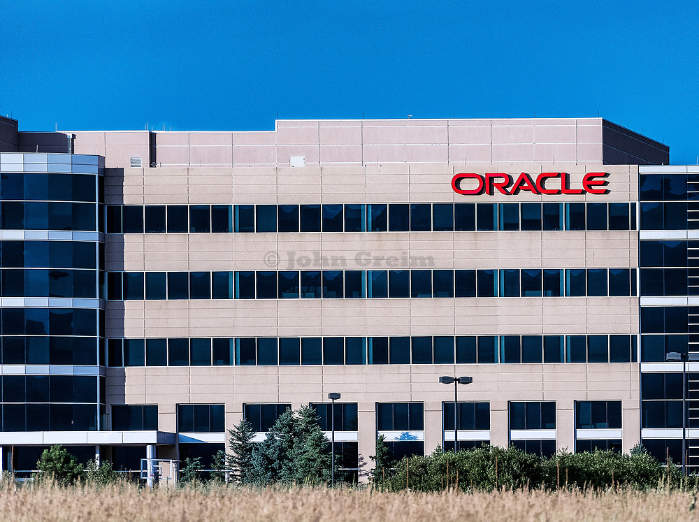 Oracle Corporation office building, Aurora, Colorado, USA.