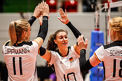 16.05.2019, Montreux, SUI, Montreux Volley Masters 2019, Deutschland vs Polen, im Bild Lena Stigrot (Germany #10) // during the Montreux Volley Masters match between Germany and Poland in Montreux, Switzerland on 2019/05/16. EXPA Pictures © 2019, PhotoCredit: EXPA/ Eibner-Pressefoto/ beautiful sports/Schiller<br /> <br /> *****ATTENTION - OUT of GER*****