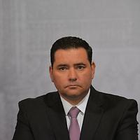 Toluca, México (Febrero 05, 2018).- Alejandro Fernández Campillo, Secretario de Educación durante la ceremonia de Aniversario de la promulgacion de las Constituciones Federales de 1857 Y 1917.  Agencia MVT / Crisanta Espinosa.