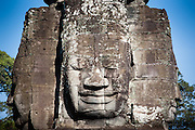 Bayon temple face tower in Angkor (Cambodia)