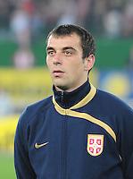 Fussball, WM Qualifikation 2010, Gruppe 7, Oesterreich - Sebien, Wien, 15.10.2008, Nenad Milijas (Serbien)