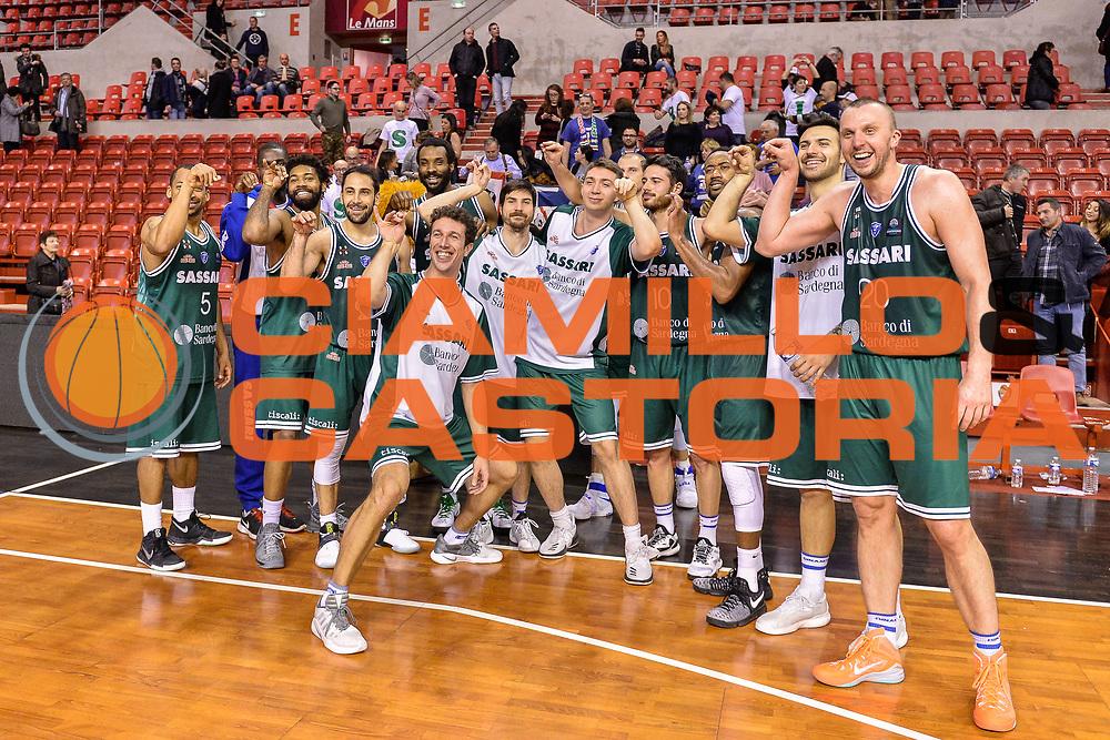Team Banco di Sardegna Dinamo Sassari<br /> Le Mans Sarthe Basket - Banco di Sardegna Dinamo Sassari<br /> FIBA Basketball Champions League 2016/2017<br /> Ottavo di finale<br /> Le Mans 07/03/2017