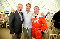 Left to right, ROGER TAYLOR, SIMON LE BON and NICK MASON at a luncheon hosted by Cartier for their sponsorship of the Style et Luxe part of the Goodwood Festival of Speed at Goodwood House, West Sussex on 4th July 2010.