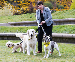 MSPs display their dogs and put them through an agility course with the winner decided by a public vote on the day.<br /> <br /> Pictured: Ruth Davidson with Dogs Trust Rescue Dogs
