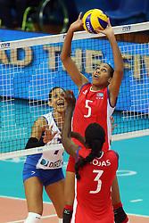 Cuba Yamila Hernandez Santas sets a ball