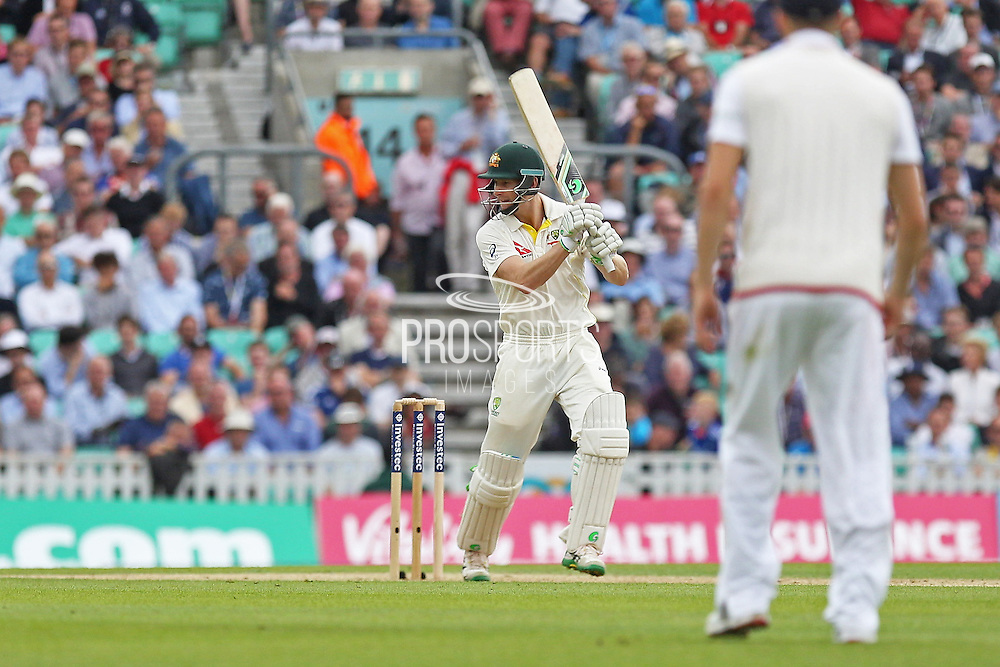 Adam Voges of Australia hits 4 runs during the 1st day of the 5th Investec Ashes Test match between England and Australia at The Oval, London, United Kingdom on 20 August 2015. Photo by Phil Duncan.