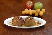 Rosh Hashana dish - baked apple with honey cinnamon and dates
