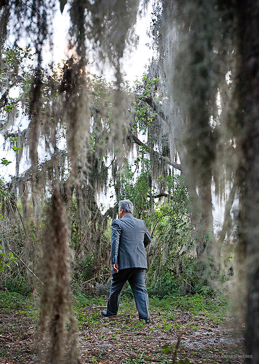 "Sometimes plagued by thieves, Joe inspects his rural property in Davie, Fla. ""Today, this business sucks, it stinks,"" Joe said referring to trucking in general. ""Every time each of these little towns runs over budget or needs money for computers or something, guess who they pick on: trucks!"""