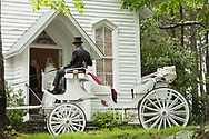 Wedding Carriage at Mount Bethel Church in Blowing Rock NC