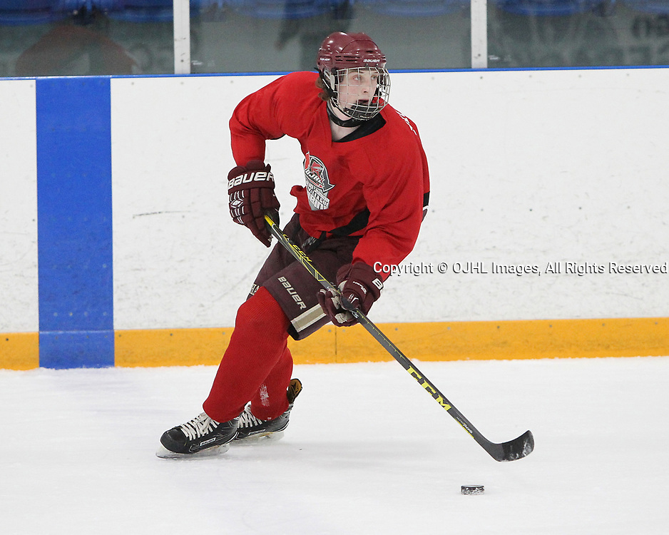 OSHAWA, ON  - APR 9,  2017: Ontario Junior Hockey League Combines at the Campus Ice Centre. <br /> (Photo by Tim Bates / OJHL Images)