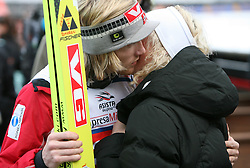 Bjoern Einar Romoeren kissing his girlfriend Martine Remsoy at e.on Ruhrgas FIS World Cup Ski Jumping on K215 ski flying hill, on March 14, 2008 in Planica, Slovenia . (Photo by Vid Ponikvar / Sportal Images)./ Sportida)
