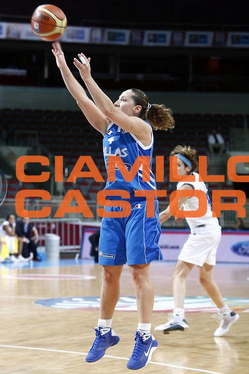 DESCRIZIONE : Riga Latvia Lettonia Eurobasket Women 2009 Semifinal 5th-6th Place Italia Grecia Italy Greece<br /> GIOCATORE : Dimitra Kalentzou<br /> SQUADRA : Grecia Greece<br /> EVENTO : Eurobasket Women 2009 Campionati Europei Donne 2009 <br /> GARA : Italia Grecia Italy Greece<br /> DATA : 20/06/2009 <br /> CATEGORIA : tiro<br /> SPORT : Pallacanestro <br /> AUTORE : Agenzia Ciamillo-Castoria/E.Castoria<br /> Galleria : Eurobasket Women 2009 <br /> Fotonotizia : Riga Latvia Lettonia Eurobasket Women 2009 Semifinal 5th-6th Place Italia Grecia Italy Greece<br /> Predefinita :