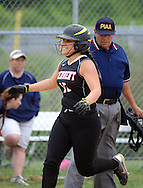 William Tennent's Liz Marucci scores a run in the 6th inning against Council Rock North Monday May 18, 2015 at Council Rock North in Newtown, Pennsylvania. William Tennent defeated Council Rock North 4-0 in the first-round District One Class AAAA softball playoff game. (Photo by William Thomas Cain/Cain Images)