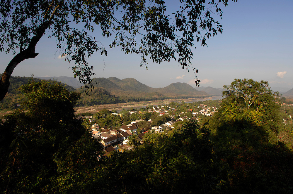 Luang Prabang seen from Wat Phousi on the summit of the Mount Phousi