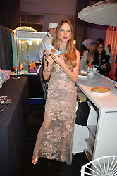 ALICIA ROUNTREE at The Naked Heart Foundation's Fabulous Fund Fair hosted by Natalia Vodianova and Karlie Kloss at Old Billingsgate Market, 1 Old Billingsgate Walk, London on 20th February 2016.