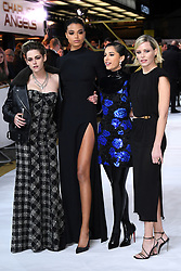 Kristen Stewart, Ella Balinska, Naomi Scott and Elizabeth Banks attending the UK Premiere of Charlie's Angels held at the Curzon Mayfair in London. Picture credit should read: Matt Doug Peters/EMPICS