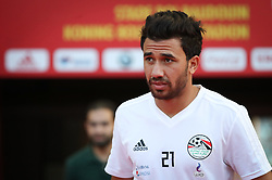 June 5, 2018 - Brussels, BELGIUM - Egypt's Trezeguet arrives for a training session of the Egyptian national soccer team, Tuesday 05 June 2018, in Brussels. Egypt will play on Wednesday a friendly game against the Belgian national soccer team Red Devils to prepare the upcoming FIFA World Cup 2018 in Russia. BELGA PHOTO VIRGINIE LEFOUR (Credit Image: © Virginie Lefour/Belga via ZUMA Press)