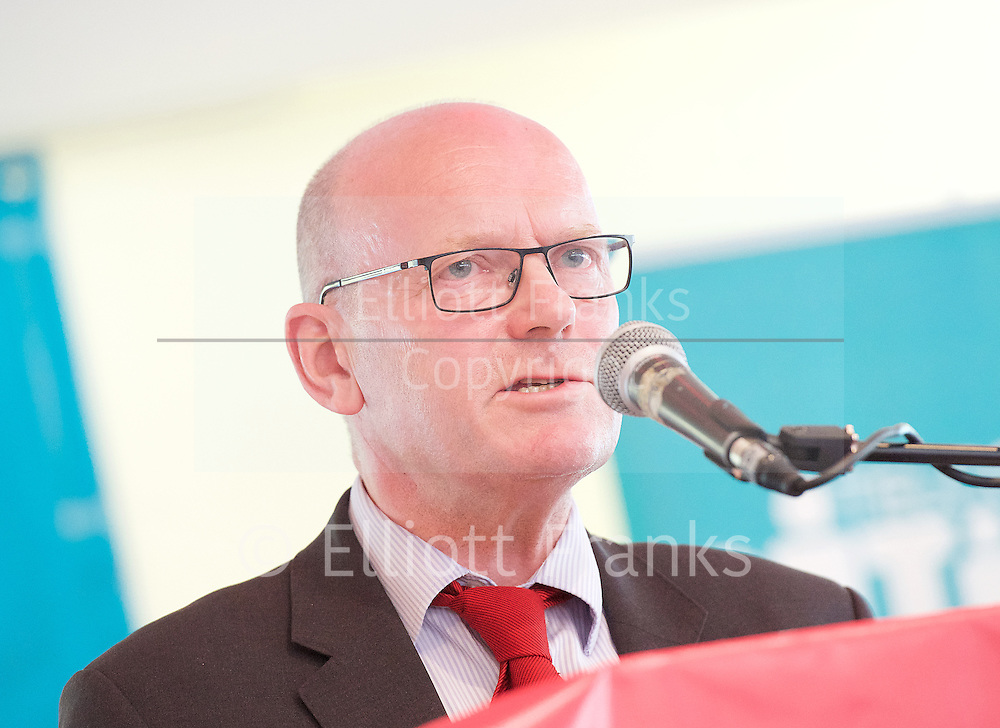 East London Citizens UK and TELCO <br /> Tower Hamlets Mayoral Election event at the WaterLily, Mile End Road, London, Great Britain <br /> 3rd June 2015 <br /> <br /> John Biggs <br /> Labour Candidate <br /> a Labour and Co-operative Party politician and member of the London Assembly representing the City and East constituency.<br /> <br /> <br /> <br /> <br /> Photograph by Elliott Franks <br /> Image licensed to Elliott Franks Photography Services