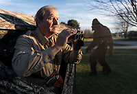 Bigfoot hunter Gary Volkmer poses for a portrait at his home on Tuesday, Nov. 28, 2017, in Omaha. Volkemer has spent the last 3 years searching for Bigfoot all over the country after receiving $1 million from a family benefactor for the hunt.<br /> <br /> MATT DIXON/THE WORLD-HERALD