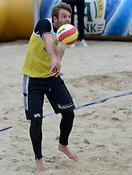 16-08-2014 NED: NK Beachvolleybal 2014, Scheveningen<br /> Kees Spil (1)