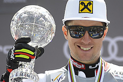 March 16, 2019 - Andorra La Vella, Andorra - Marcel Hirscher of Austria Ski Team, win the Cristal Globe of  Men's Giant Slalom Audi FIS Ski World Cup, on March 16, 2019 in El Tarter, Andorra. (Credit Image: © Joan Cros/NurPhoto via ZUMA Press)