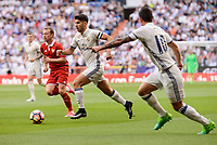 Real Madrid's Marco Asensio and James Rodriguez during La Liga match between Real Madrid and Sevilla FC at Santiago Bernabeu Stadium in Madrid, May 14, 2017. Spain.<br /> (ALTERPHOTOS/BorjaB.Hojas)
