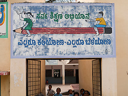 Sign outside school, Mysore