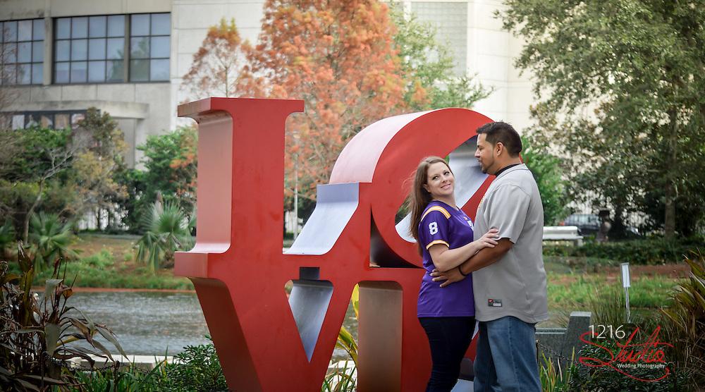 Rene & Lacey Engagement Album | City Park New Orleans December 2013 | 1216 Studio New Orleans Wedding Photographers