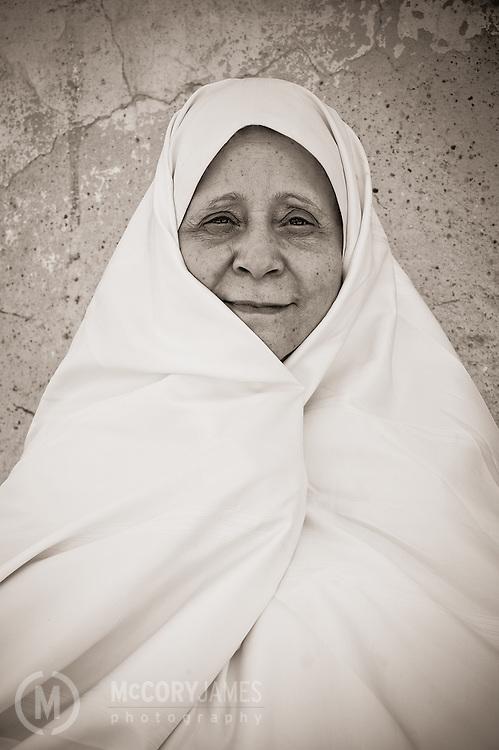 A portrait of muslim woman in Tunisia