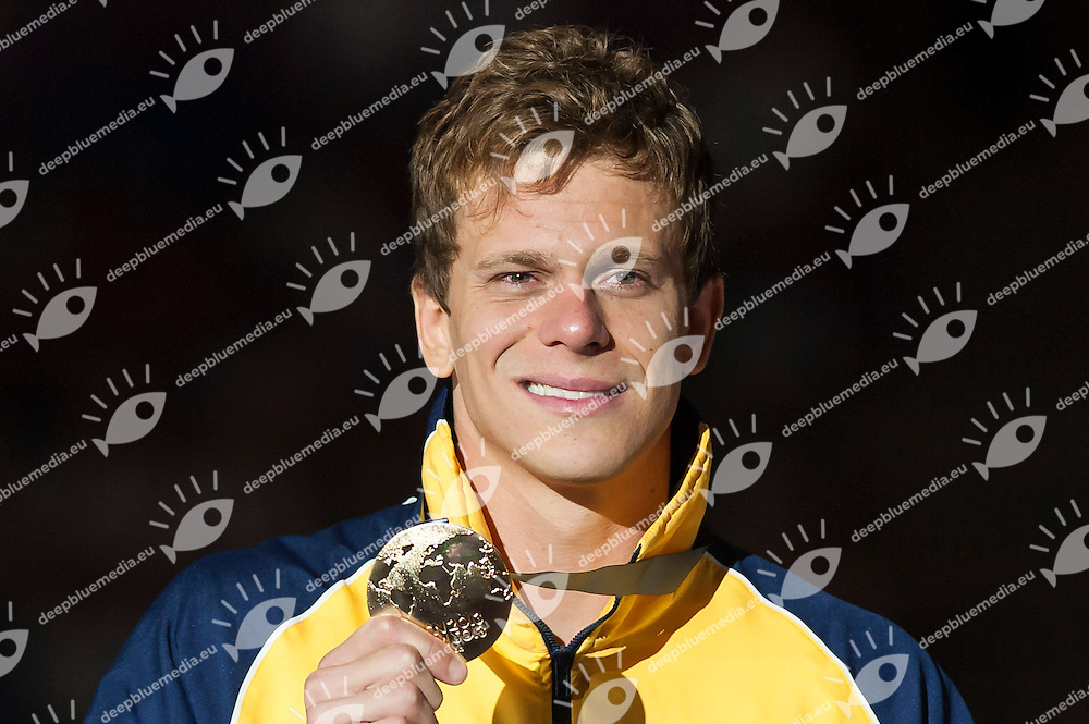 CIELO FILHO Cesar BRA gold medal<br /> Women's 50m freestyle final<br /> 15th FINA World Aquatics Championships<br /> Palau Sant Jordi, Barcelona (Spain) 03/08/2013 <br /> &copy; Giorgio Perottino / Deepbluemedia.eu / Insidefoto