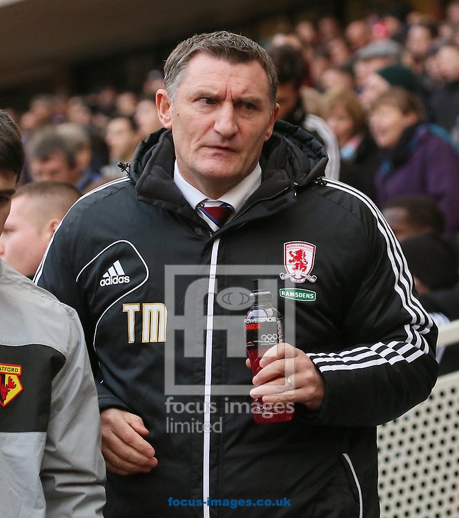 Picture by Paul Gaythorpe/Focus Images Ltd +447771 871632.12/01/2013.Middlesbrough manager Tony Mowbray before the npower Championship match at the Riverside Stadium, Middlesbrough.
