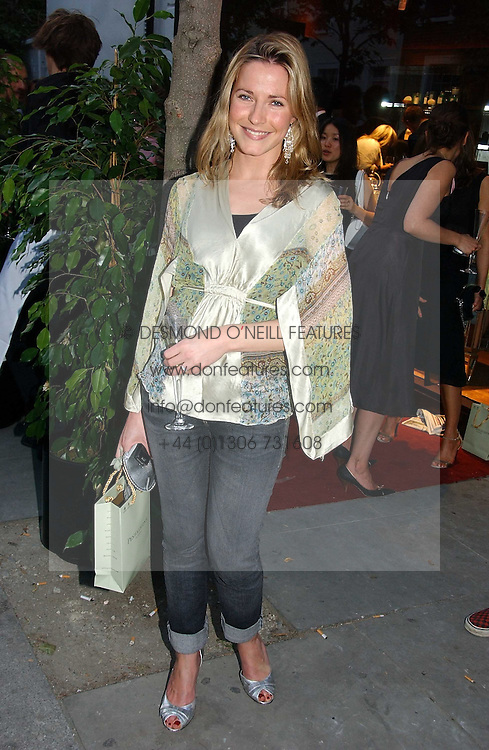 SOPHIE JOHNSTONE fiance of the Hon.Ed Tollemache at a party to celebrate the re-launh of Penhaligon's at 132 Kings Road, London SW3 on 7th June 2006.<br /><br />NON EXCLUSIVE - WORLD RIGHTS