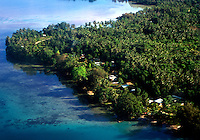 Aerial view of Gizo, Solomon Islands