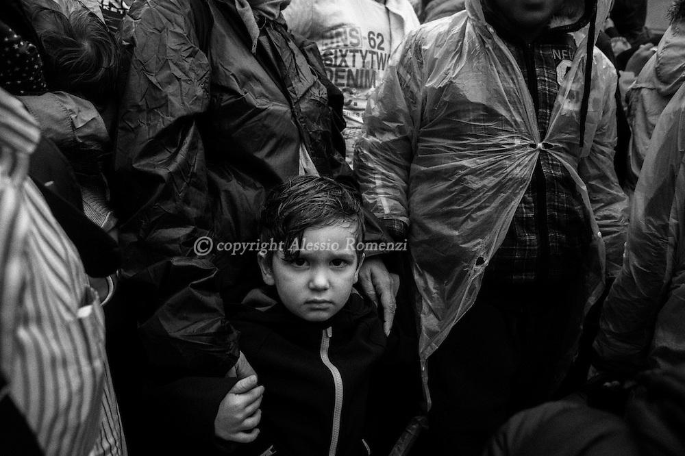 Croatia, Tovarnik: In Tovarnik rail station migrants wait the train that will take them either to the border with Hungary or Slovenia. Alessio Romenzi