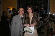 Inacio Ribeiro and Suzanne Clements. 'Pret-a-Portea'M.A.C. launches High Tea collection with British fashion designers. Berkeley Hotel. 17 January 2004. ONE TIME USE ONLY - DO NOT ARCHIVE  © Copyright Photograph by Dafydd Jones 66 Stockwell Park Rd. London SW9 0DA Tel 020 7733 0108 www.dafjones.com