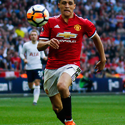 Alexis Sanchez of Manchester United during the Emirates FA Cup match between Manchester United and Tottenham Hotspur at Old Trafford on April 21, 2018 in Manchester, England. (Photo by Rob Sambles)