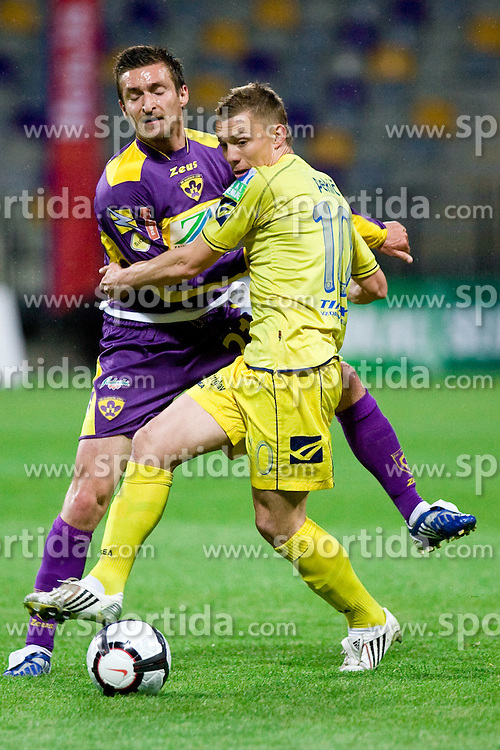 Armin Bacinovic of Maribor vs Damir Pekic of Domzale at Final football match  of Hervis Cup between NK Maribor and NK Domzale, on May 8, 2010, played in Ljudski vrt, Maribor, Slovenia. Maribor defeated Domzale after overtime 3-2 and became Slovenian Cup Champion. (Photo by Vid Ponikvar / Sportida)