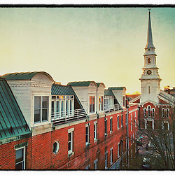 """The North Church in Portsmouth, New Hampshire. iPhone photo - suitable for print reproductions up to 8"""" x 12""""."""