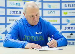 Lovro Umek during press conference when Slovenian athletes and their coaches sign contracts with Athletic federation of Slovenia for year 2016, on February 25, 2016 in AZS, Ljubljana, Slovenia. Photo by Vid Ponikvar / Sportida