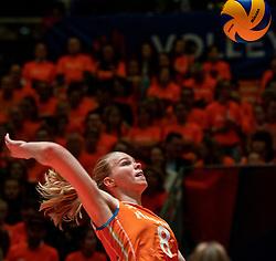 30-05-2019 NED: Volleyball Nations League Netherlands - Poland, Apeldoorn<br /> Demi Korevaar #8 of Netherlands