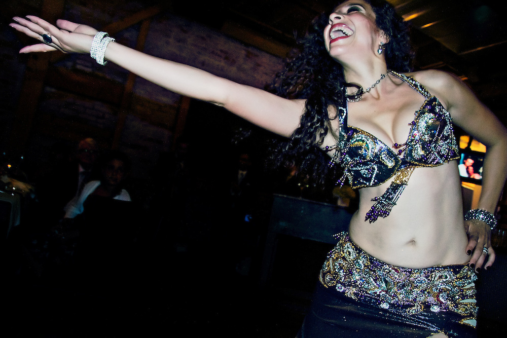 An Egyptian bellydancer performs. Beautiful energy, colours and skill make this tradition a stunning spectacle.