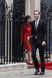 London, UK. 4 June, 2019. Jared Kushner, senior advisor to President Trump, his father-in-law, leaves 10 Downing Street following lunch and bilateral talks between Prime Minister Theresa May, President Trump and their respective delegations on the second day of the US state visit.