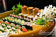 Le championnat de France de sushi a réuni des chefs cuisiniers français et internationaux.<br /> Phase finale - Plateau Emanuele Bombardier