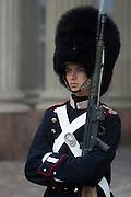 Guard at Amalienborg, summer castle of Danish Queen Margarete II.
