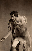 Frank Robert Benson (1858-1939) English actor-manager who specialised in Shakespearean roles.  Here as Timon in  'Timon of Athens' by William Shakespeare. Photogravure c1895.