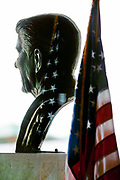 Simi Valley, California, USA, May 3rd 2007: A bust of President Ronald Reagan at the Ronald Reagan Presidential Library in Simi Valley, California.