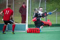 Southgate v Brighton & Hove - Men's Hockey League East Conference, Trent Park, London, UK on 21October 2017. Photo: Simon Parker