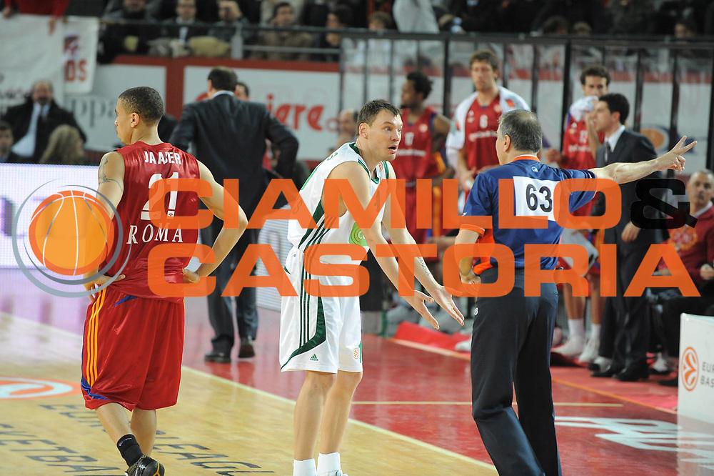 DESCRIZIONE : Roma Eurolega 2008-09 Lottomatica Virtus Roma Panathinaikos Atene<br /> GIOCATORE : Sarunas Jasikevicius<br /> SQUADRA : Panathinaikos Atene<br /> EVENTO : Eurolega 2008-2009<br /> GARA : Lottomatica Virtus Roma Panathinaikos Atene<br /> DATA : 26/02/2009<br /> CATEGORIA : delusione<br /> SPORT : Pallacanestro <br /> AUTORE : Agenzia Ciamillo-Castoria/G.Ciamillo