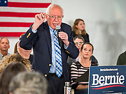 11 NOVEMBER 2019 - DES MOINES, IOWA: US Senator BERNIE SANDERS (I-VT) leads a town hall meeting Monday afternoon. About 120 people attended the town hall sponsored by Sen. Sanders in Des Moines. The subject of the town hall was veterans, senior citizens, and health care. The event was part of Sanders' campaign to be the Democratic presidential nominee in 2020. Iowa hosts the first selection event of the presidential election cycle. The Iowa Caucuses are Feb. 3, 2020.            PHOTO BY JACK KURTZ