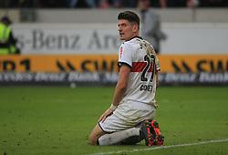 20180311, VfB Stuttgart vs RB Leipzig, Mercedes Benz Arena Fussball, Sport, im Bild:..Mario Gomez (VFB Stuttgart)...*Copyright by:  Philippe Ruiz..Postbank Muenchen.IBAN: DE91 7001 0080 0622 5428 08..Oberbrunner Strasse 2.81475 MŸnchen, .Tel: 089 745 82 22, .Mobil: 0177 29 39 408..( MAIL:  philippe_ruiz@gmx.de ) ..Homepage: www.sportpressefoto-ruiz.de. (Credit Image: © Philippe Ruiz/Xinhua via ZUMA Wire)